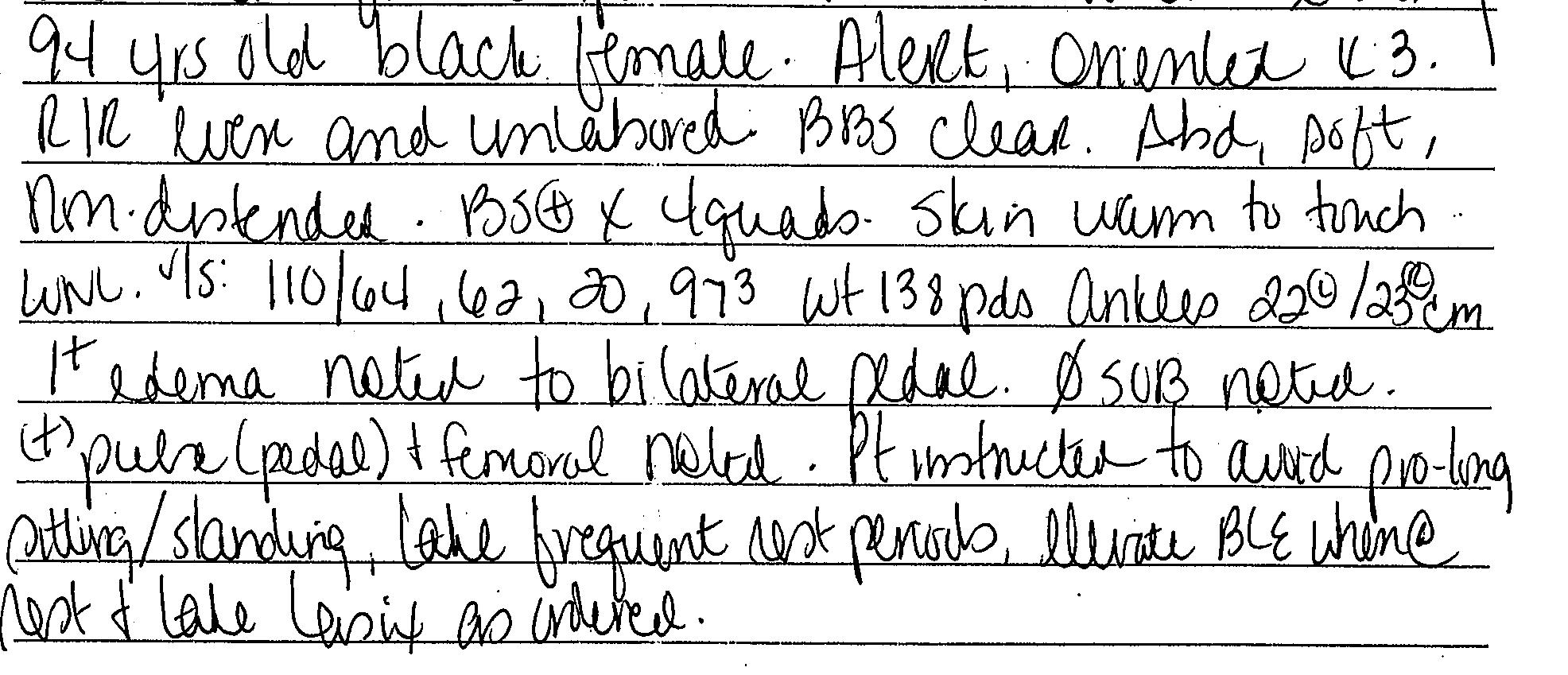 good nursing notes examples